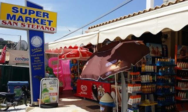 SUPERMARKET AGIOS STEFANOS CORFU ISLAND | SAN STEFANO MARKET